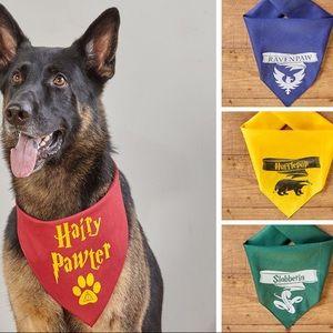 Harry Potter Pet Bandana Dog Cat Scrunchie set  Foulard Animaux Chien Chat Harry Potter set chouchou